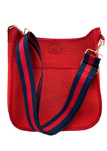 Load image into Gallery viewer, Neoprene Perforated Red Messenger  Bag