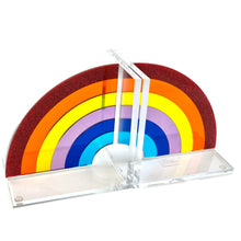 Load image into Gallery viewer, Rainbow Acrylic Lucite Bookends