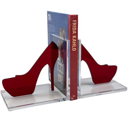 Hipchik Pop Stiletto Acrylic Lucite Bookends