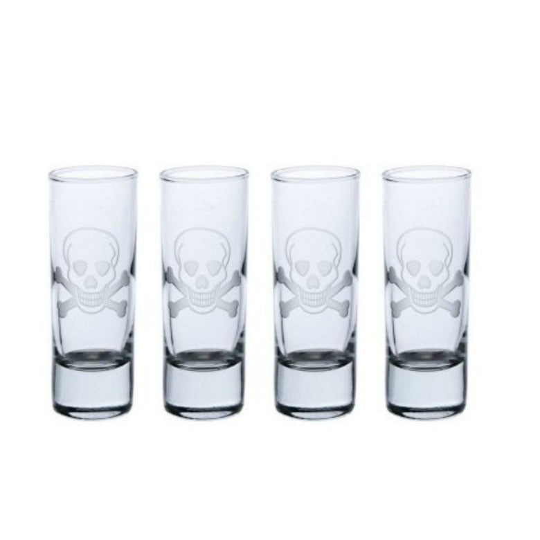 Hipchik Skull and Crossbones Shot Glasses (Set of 4) - Hipchik