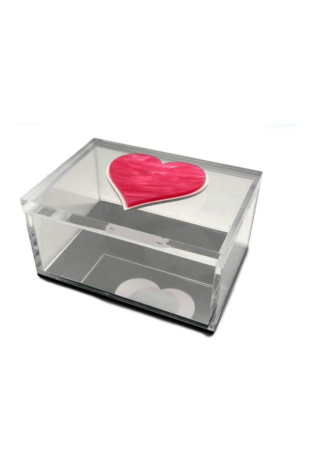 """Pink Heart"", Acrylic Lucite Box"