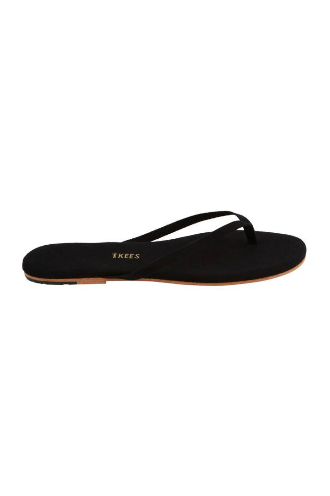 """TKEES"", Suede Licorice Root Flip Flops"