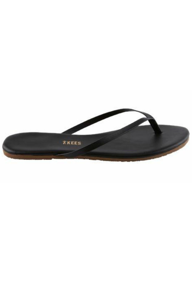 """TKEES"" Black Liners Sable Leather Sandals"