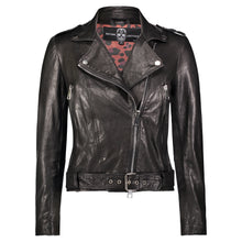 Load image into Gallery viewer, Hipchik Too Far Gone Leather Motorcycle Jacket - Hipchik