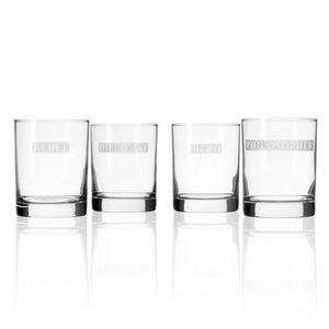 Hipchik Home Hero/Rebel Double Old Fashioned (Set of 4 Glasses)