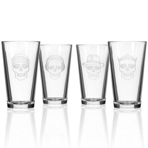 Hipchik Home Numbskulls Pint (Set of 4 Glasses)