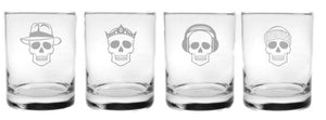 """NUMBSKULL"", Double Old Fashion Glasses- Set of 4"