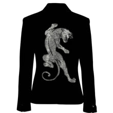 Load image into Gallery viewer, Hipchik Crystal Panther Black Blazer