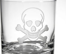Load image into Gallery viewer, Hipchik Home Skull and Cross Bones Double Old Fashioned (Set of 4 Glasses)