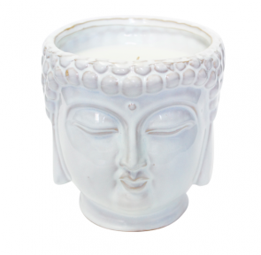 D&L Company White Buddha Scented Candle - Hipchik