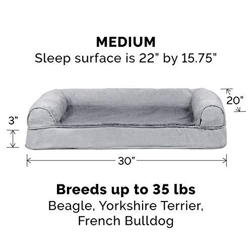 Furhaven Pet Dog Bed Orthopedic Ultra Plush Sofa Style Couch Pet