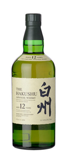 Hakushu 12 Year Old Japanese Single Malt Whisky (750ml)