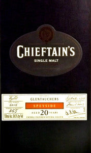 Chieftan's 1992 Glentauchers 21 Year Old Single Malt Scotch Whiskey (Bottled 2014 -750ml)