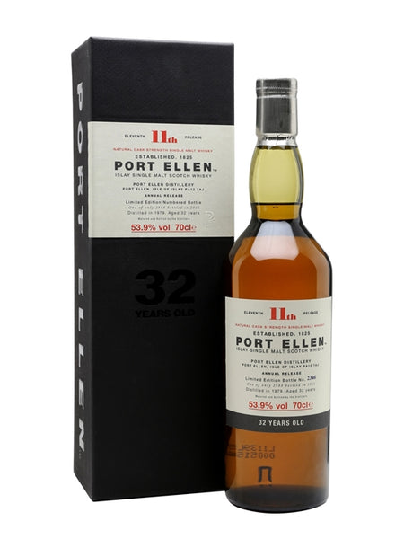 "Port Ellen ""11th Release - 32 Years Old"" Islay Single Malt Scotch Whisky"