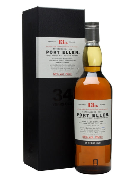 "Port Ellen ""13th Release - 34 Years Old"" Islay Single Malt Scotch Whisky"