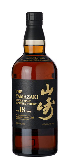 Yamazaki 18 year old Japanese Single Malt Whiskey (750ml)