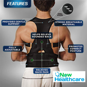 HEALTHCARE PRO™ Posture-Corrective Therapy Back Brace For Men & Women