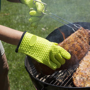 Silicone Heat Resistant Gloves (2 pcs)
