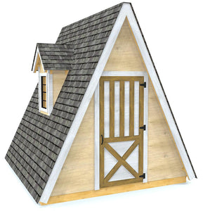 Wooden A-frame shed plan