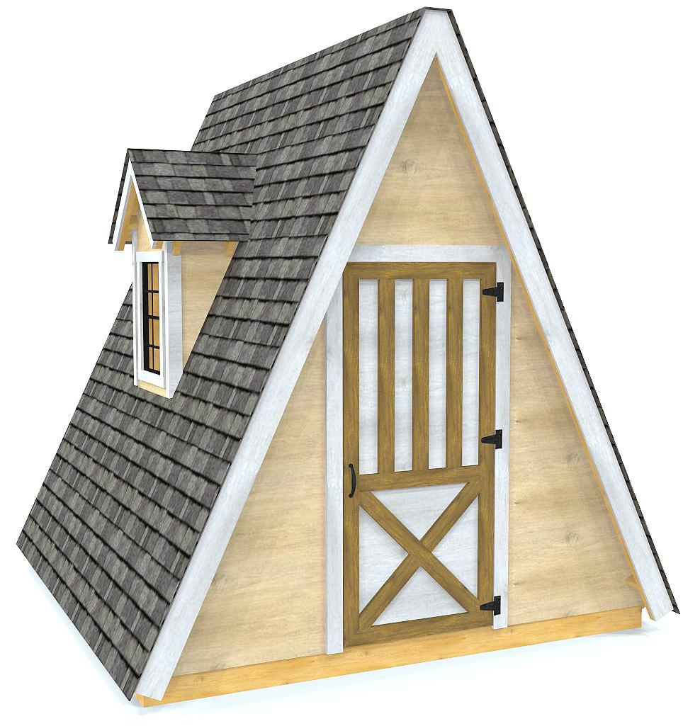 10x10 Alice Shed Plan A Frame Storage Shed Plan Paul S