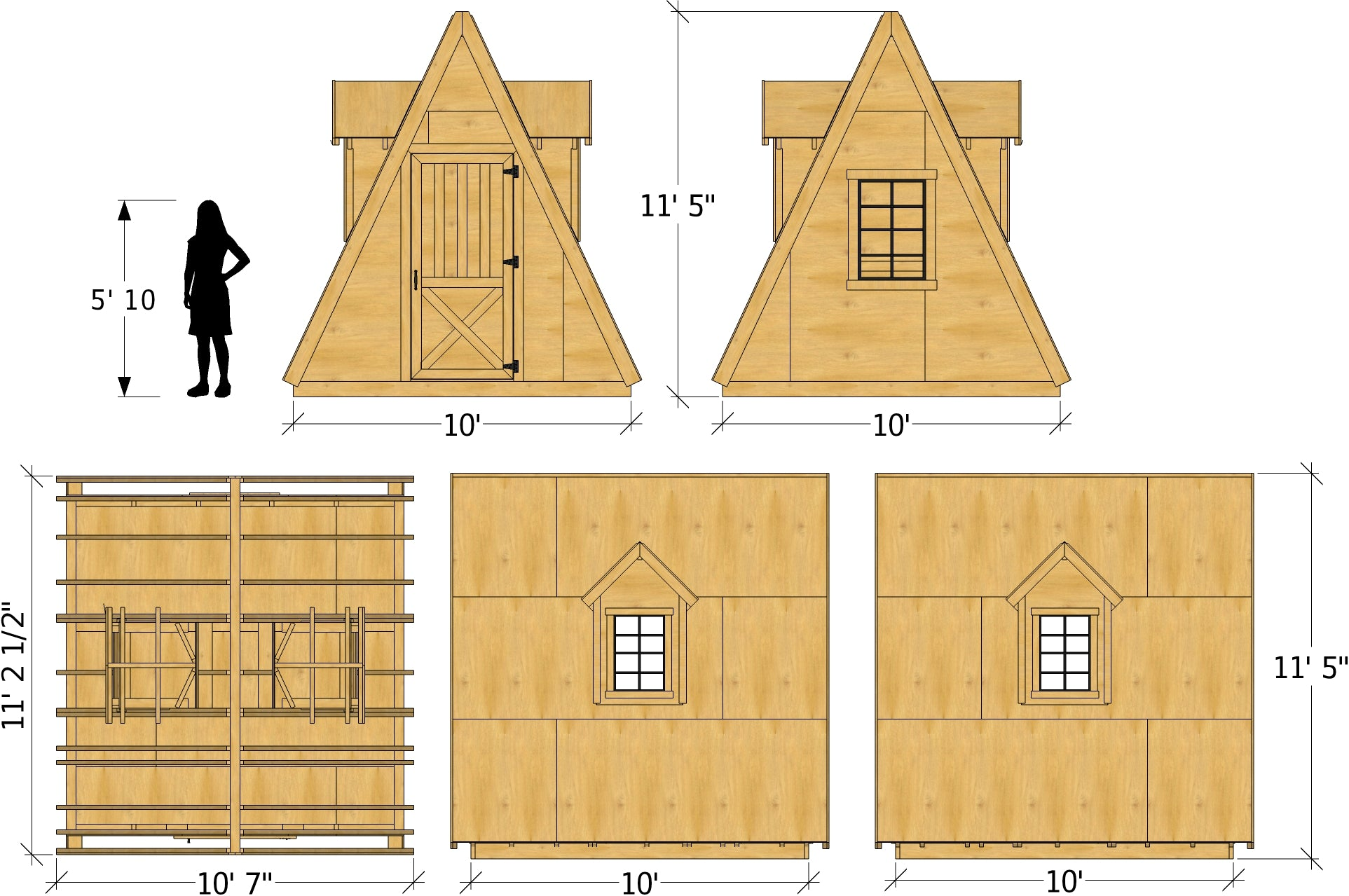 ... Wood, A Frame Shed Plan Dimensions