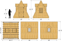wood, A-frame shed plan dimensions