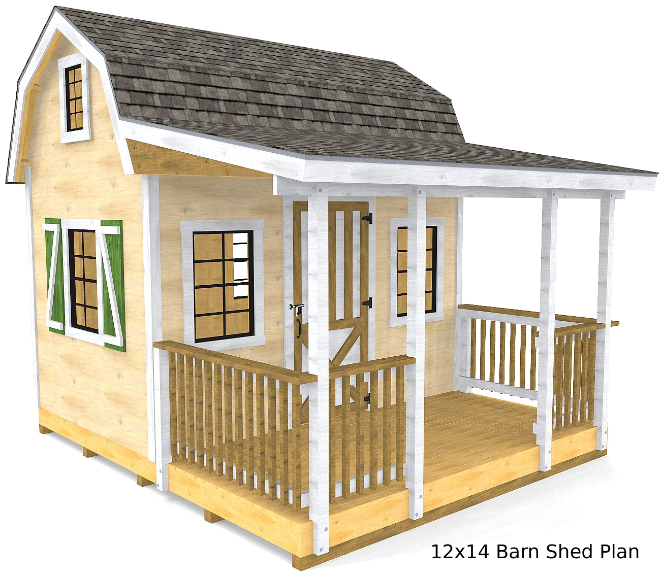 Diy Sheds For Sale: 2 Story & Front Porch