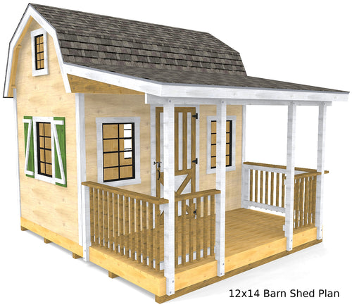 Barn Shed Plan (3‑Sizes)