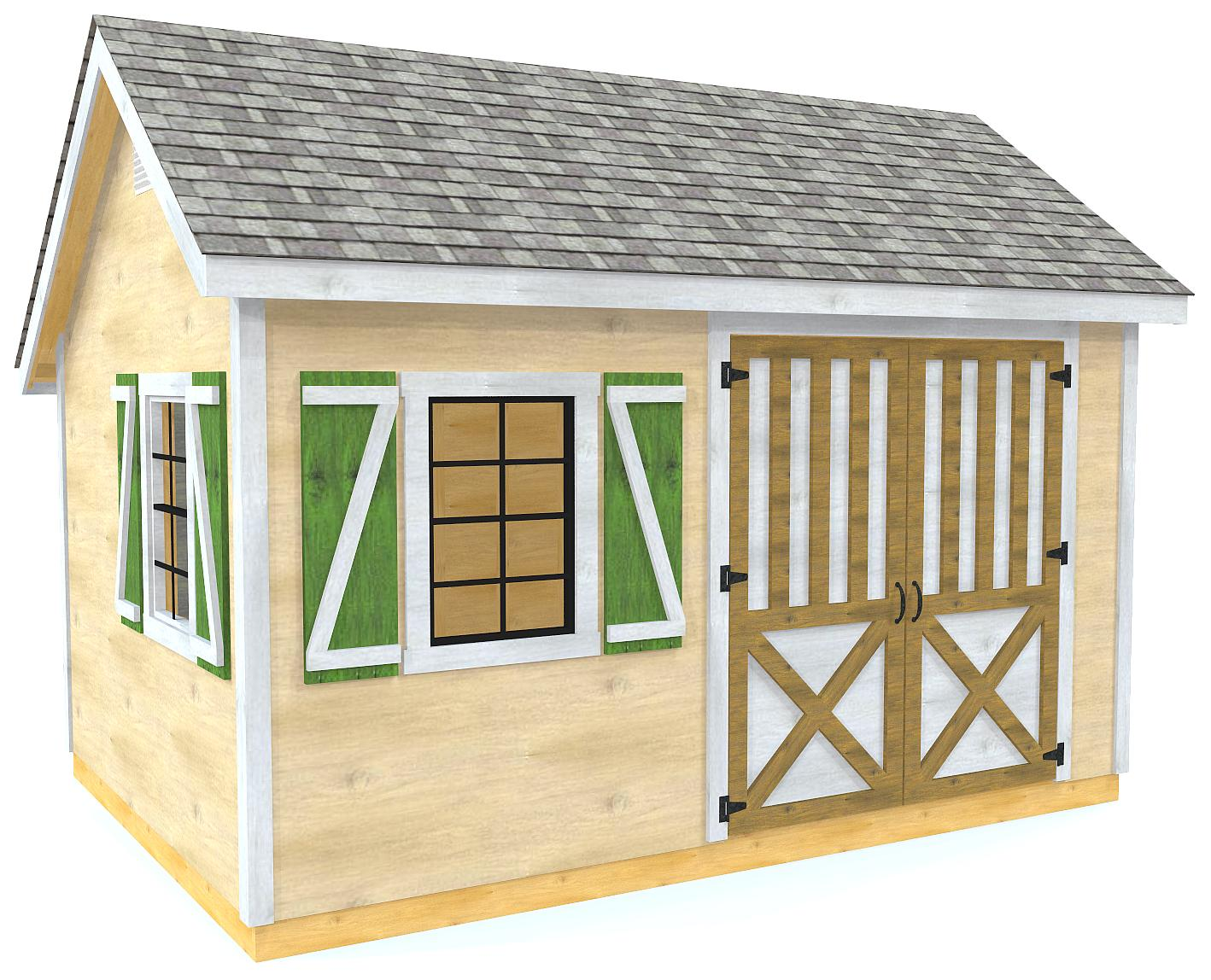 8x12 / 10x14 Ernest Shed Plan | Saltbox Storage Shed Design – Paul's Playhouse X With Loft Plans on barn style sheds with loft, yard sheds with loft, 16x20 cabin plan with loft, 14x16 cabin with a loft, one room cabin with loft, 12x12 cabin with sleeping loft,
