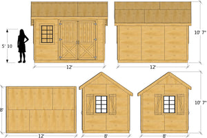 Ernest Shed Plan (2‑Sizes)
