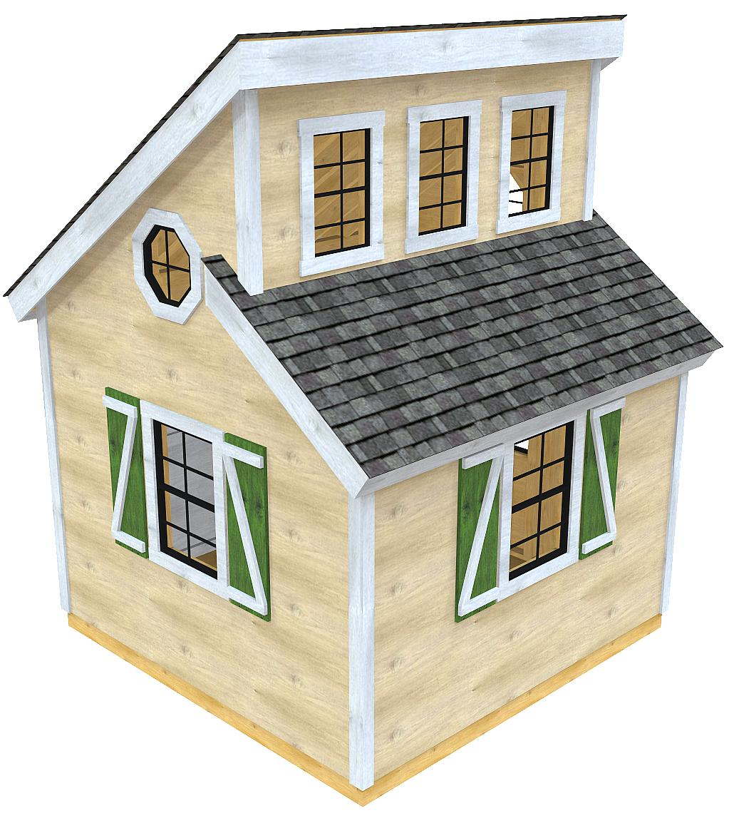 Irene Shed Plan   2‑Sizes   Duel Shed Roof, Clerestory ...
