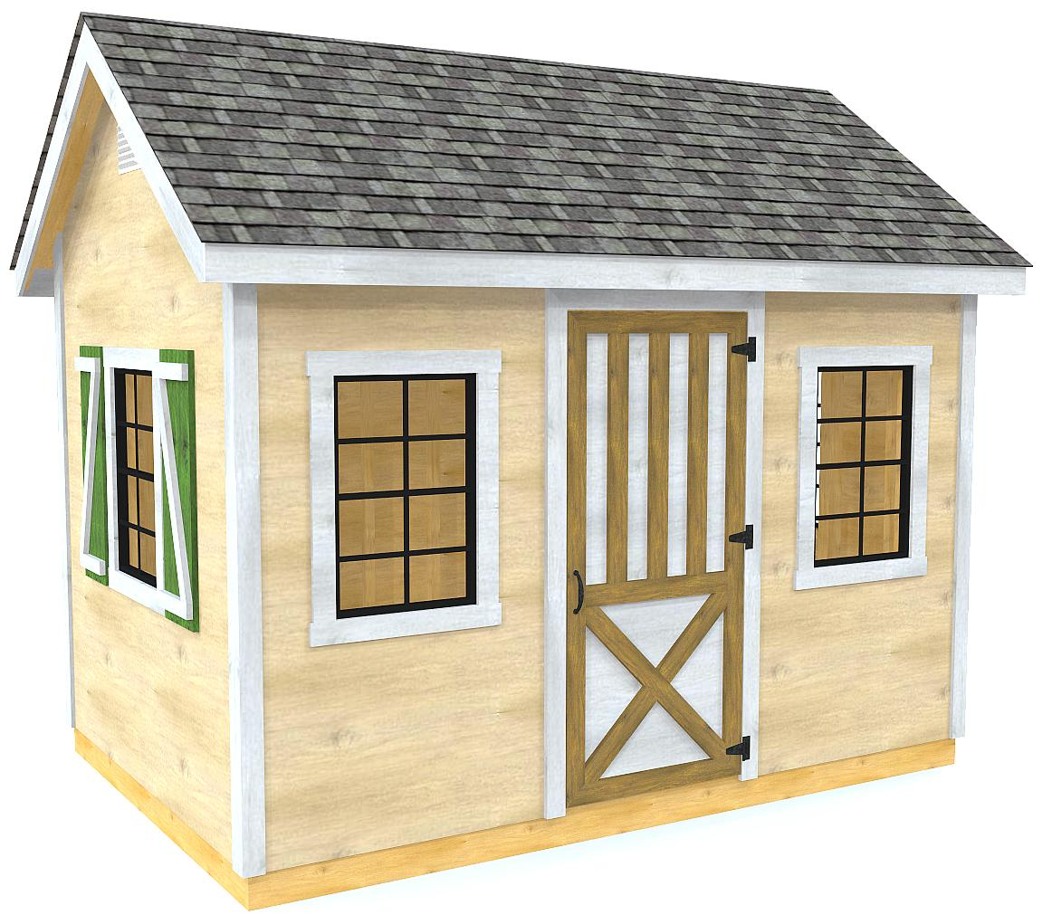 12x16 mattie shed plan gable roof 2 sized shed design 89812