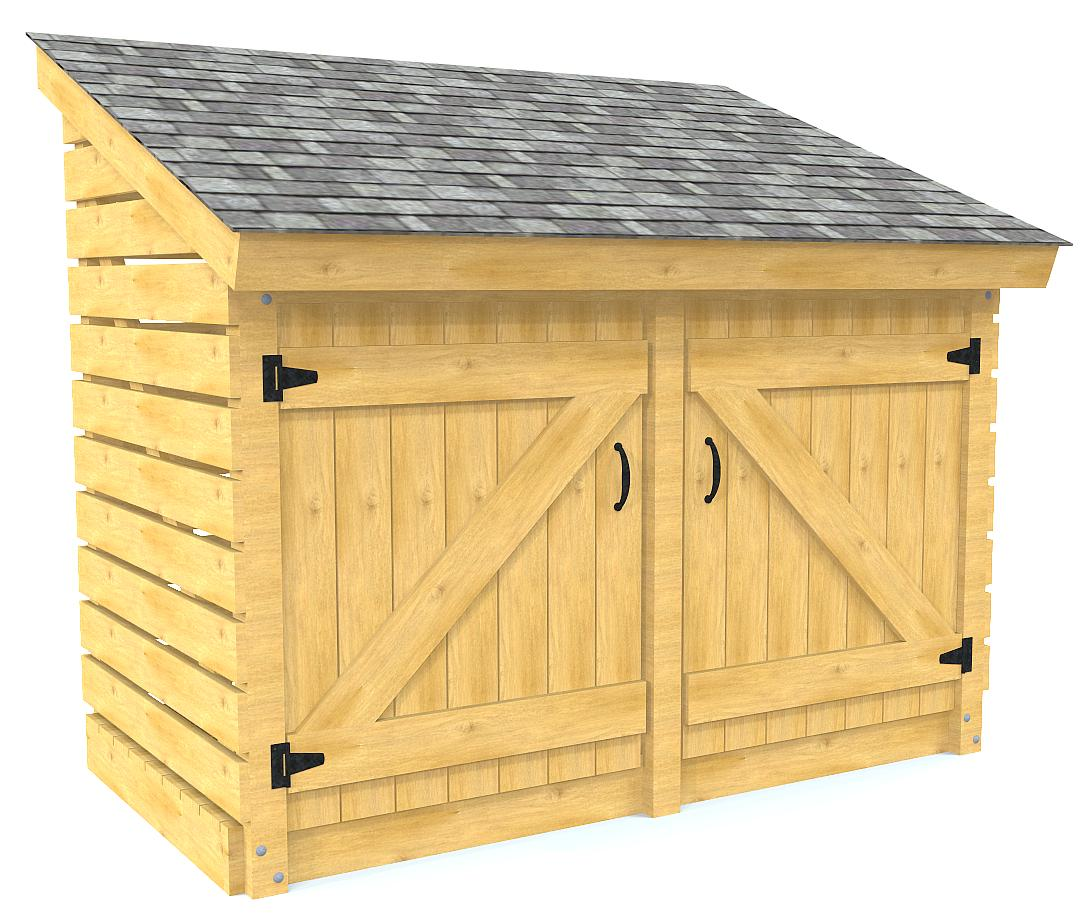 4x8 Free Small Shed Plan