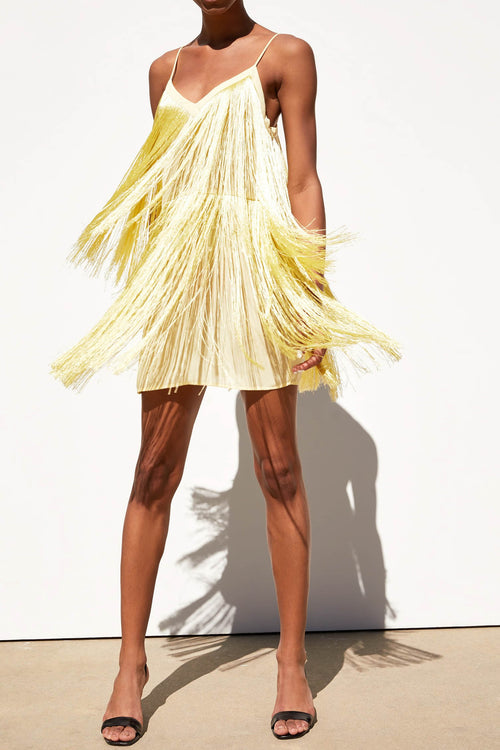 Yellow Fringed Dress