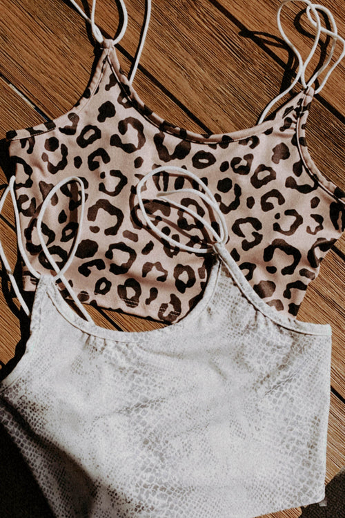 Rockie Crop Top - Snake Print