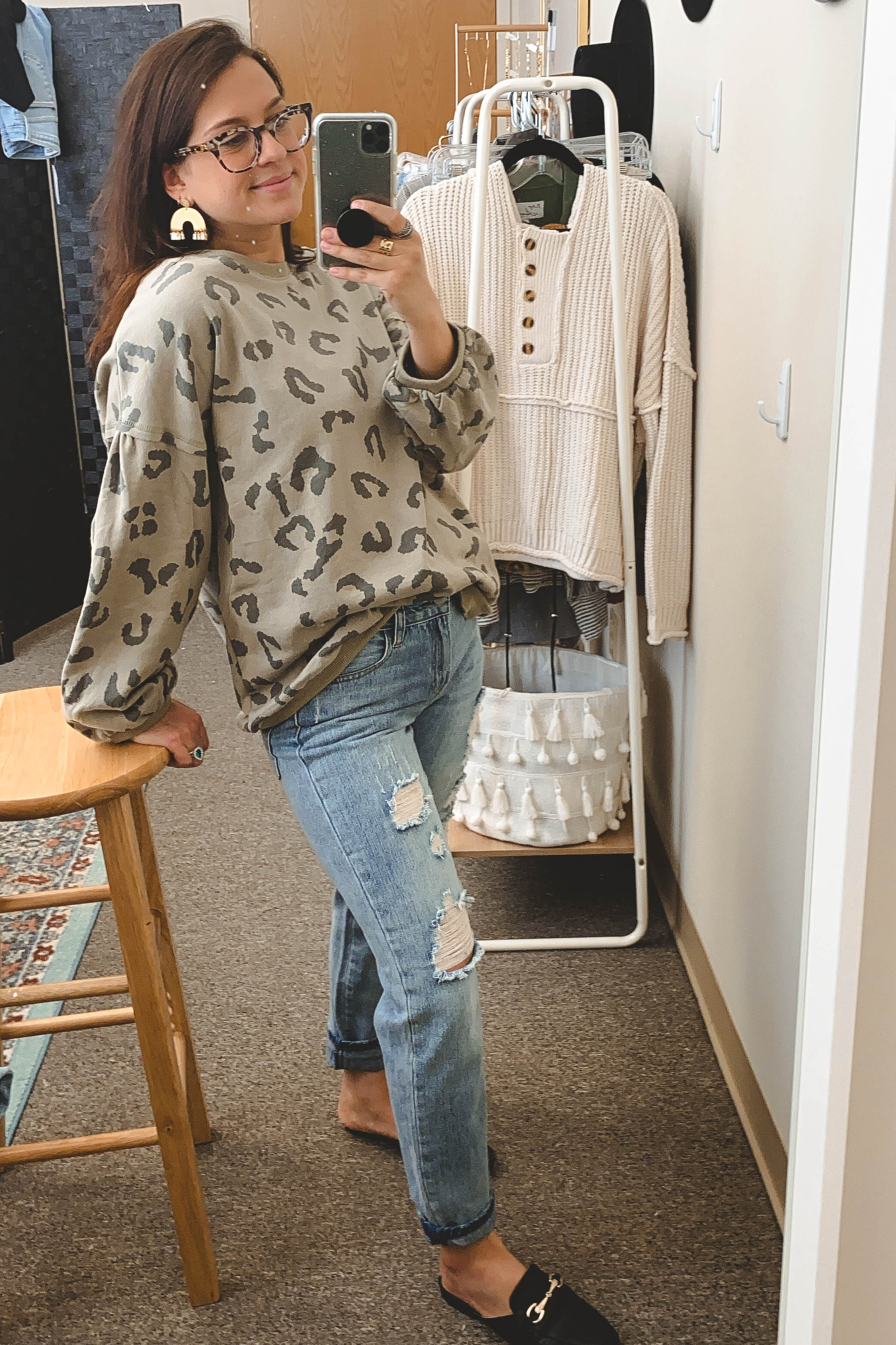 Light Wash Distressed Boyfriend
