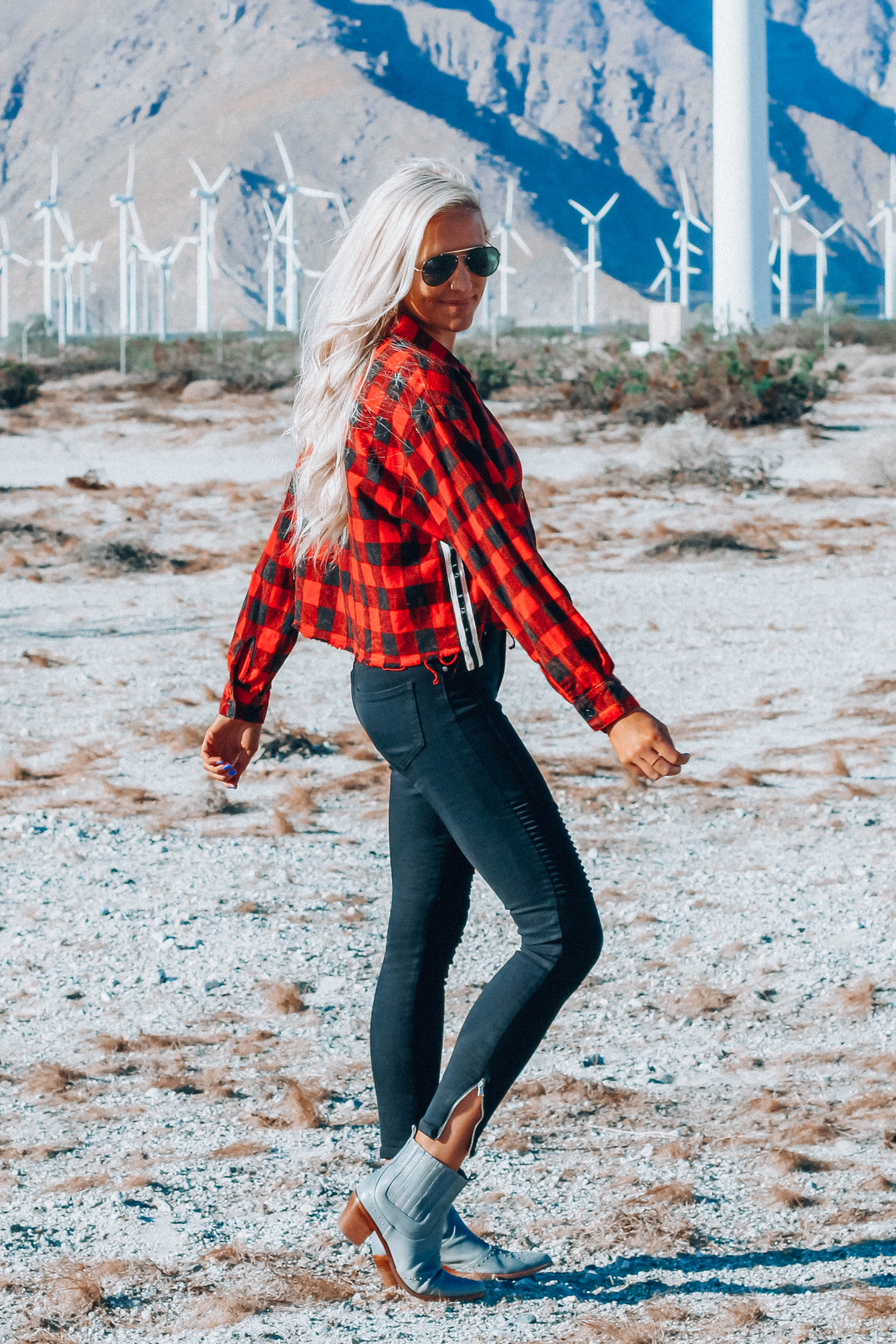 Buffalo Plaid Satin Trim Top