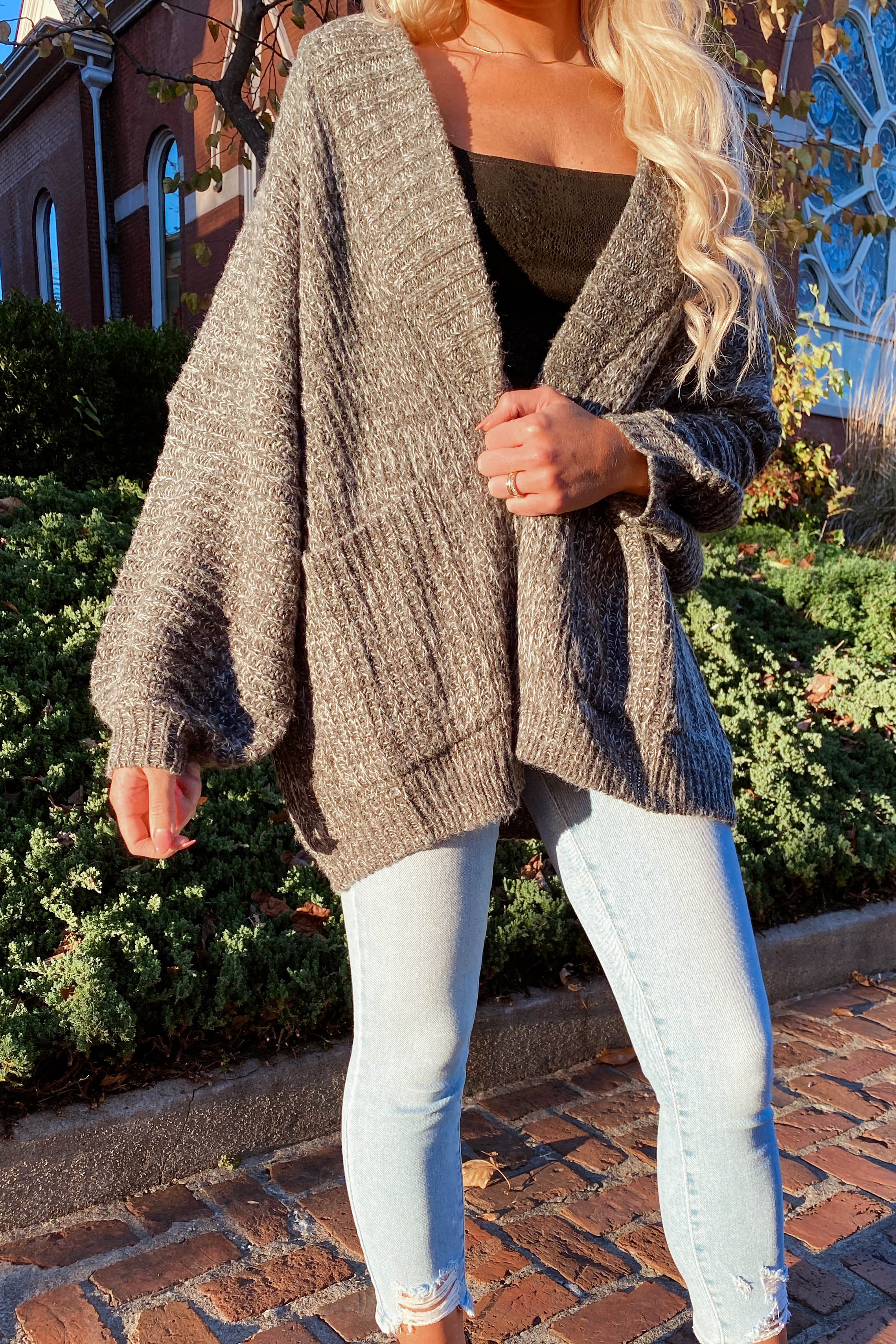 Stay Cozy Heather Grey Sweater