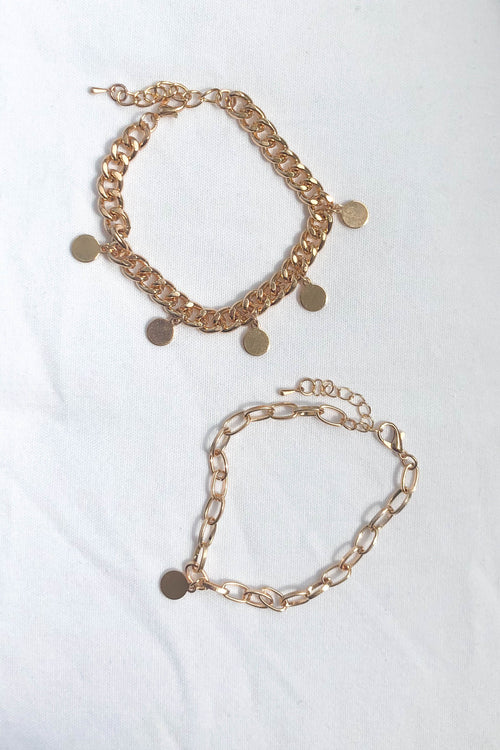 Luca Gold Bracelet Set