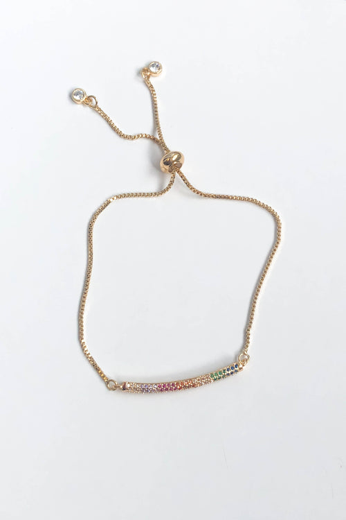 Rainbow Bar Slider Bracelet