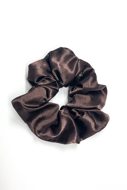 Brown Silk Scrunchie