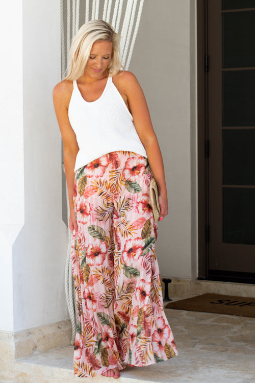 Aloha Pleated Pants