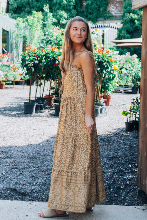 Make My Day Leopard Maxi Dress