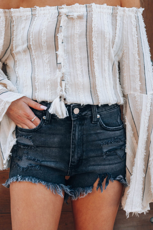 Outlaw High Rise Denim Shorts