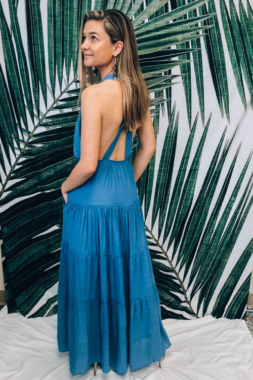 Beachin' Maxi Dress - Blue
