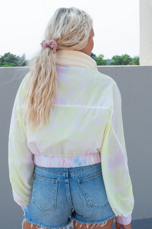 Tie Dye Windbreaker Jacket