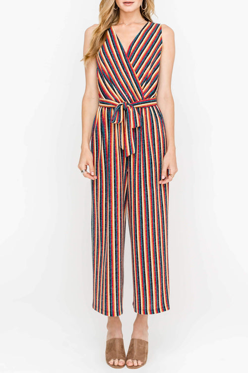 On the Run Striped Jumpsuit