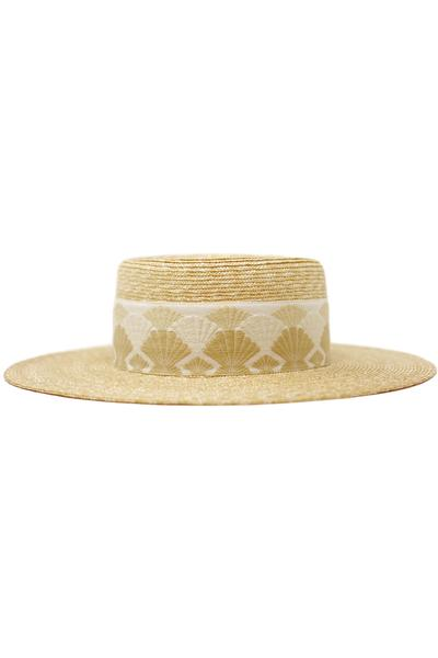 Straw Seashell Hat