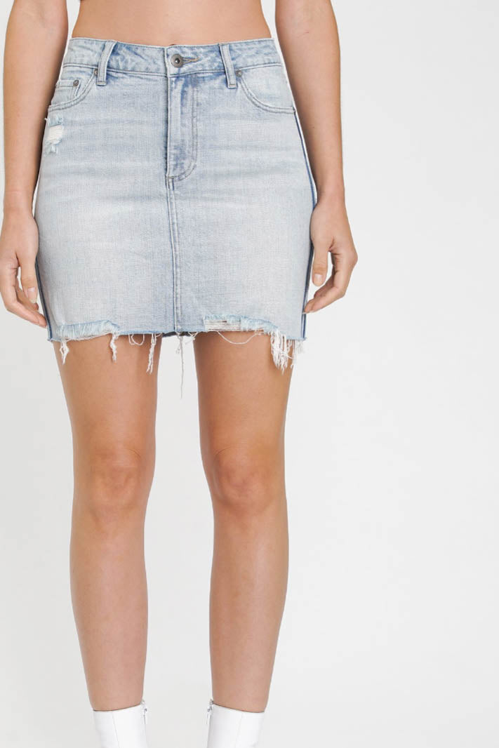 Sierra High Rise Denim Skirt