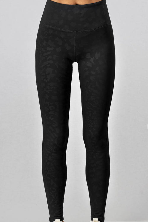 Cheetah Girl Black Leggings